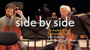 During Side by Side, students quite literally sit next to orchestra members of the Orchestra of the Eighteenth Century. This year, they played Mendelssohn together. Watch this video in which they talk about the learning experience.