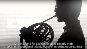 Corporate video to promote the Fund for Excellence scholarship.